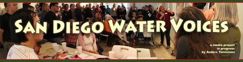 Header for new vimeo channel, san diego water voices