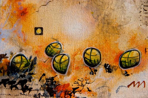 All our resources went towards finding more gold, detail, acrylics-canvas.