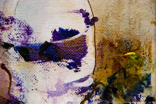 Afterthought, painting by anders tomlinson, 10 x 8 inches, acrylics-canvas. photo by anders tomlinson.