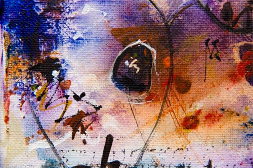 Conception as an Afterthought, painting by anders tomlinson, 10 x 8 inches, acrylics-canvas.  photo by anders tomlinson.