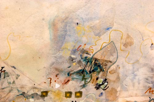 Dreaming of Dreaming, painting by anders tomlinson, 18 x 24 inches, acrylics-watercolor paper. photo by ander