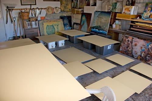anders tomlinson paint studio, primimg day, san diego, ca.