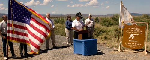 Lower Klamath National Wildlife Refuge Centennial Celebration, August 8th, 2008.  Photo by Anders Tomlinson..