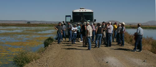 bus tour of Klamath reclamation project for Klamath Indians sponsored by Klamath Waterusers Association.  Photo by Anders Tomlinson