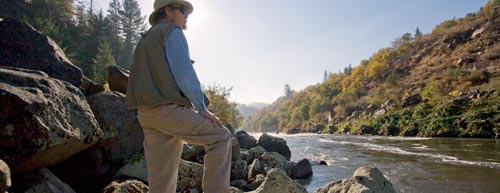 Anders Tomlinson in his thoughts, reflecting on the Klamath River Watershed.