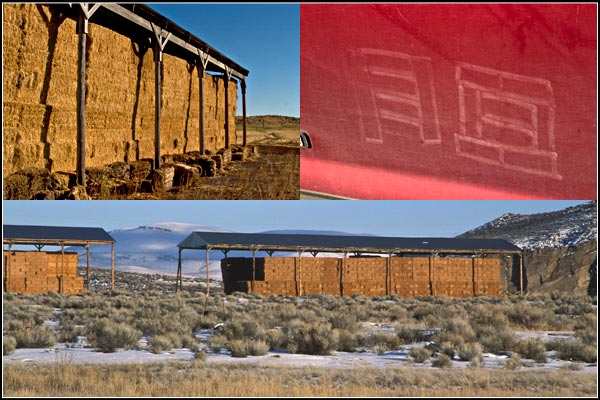 hay barns tule lake basin.  tulelake, ca.  photos by anders tomlinson