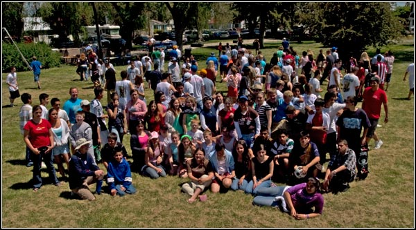 tulelake, california high school class picture during spring break.  photo by anders tomlinson