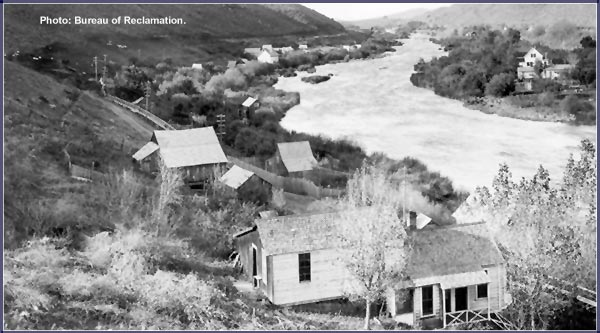 The project was approved on May 15th, 1905 and one million  dollars was immediately allocated. Reclamation began to buy, and unify, private water projects into one master plan. photo of link river, klamath falls.  bureau of reclamation photo