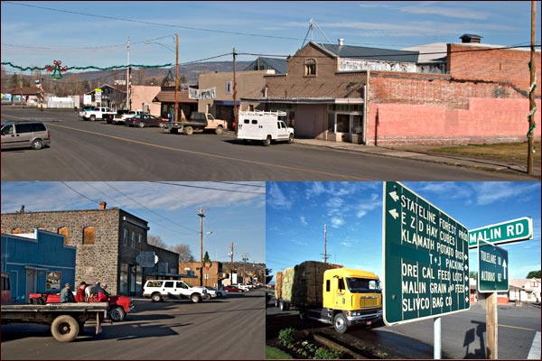 looking north  in downtown malin, oregon.  photos by anders tomlinson.