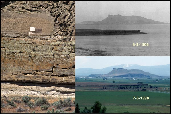 water levels tule lake basin 1905 - 1990