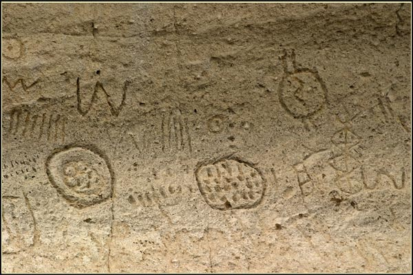 etroglyph point, lava beds national monument. tulelake, ca. closeup of petroglyph. photo by anders tomlinson.