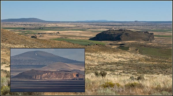 petroglyph  point, lava beds national monument, tulelake, ca.  two views seen from the nortwest and west.  photos by anders tomlinson.