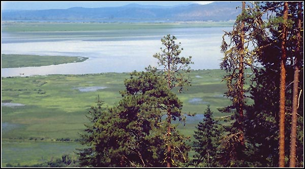 Overlooking upper klamath national wildlife refuge from tomahwak hill.  rocky point, oregon.  photo by anders tomlinson""