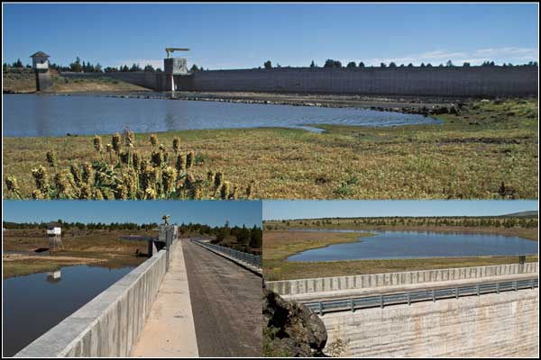 three views of the lost river dam in clear lake national wildlife refuge, modoc county california.  tulelake california.  photos by anders tomlinson