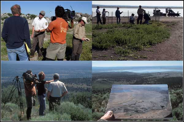 pbs tv crews documents u.s. fish and wildlife capture and band young pelican on an islans in clear lake national wildlife refuge. modoc county, california. tulelake california. photos by anders tomlinson