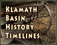 klamath basin history timeline icon. photo by anders tomlinson