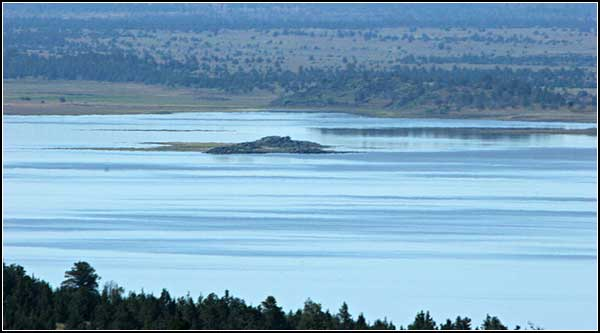 island in clear lake national wildlife refuge, modoc county, california.  tulelake, california.  photo by anders tomlinson.