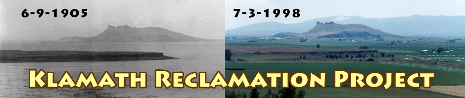 klamath reclamation project in the tule lake basin,1905 and 1998.