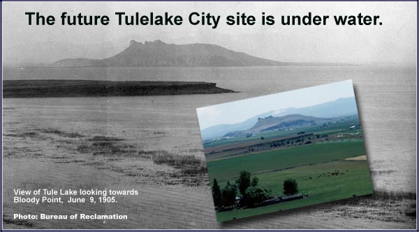 bureau of reclamation photo of tule lake 1905.