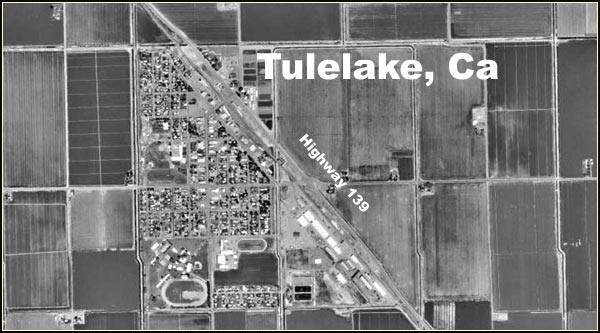 tulelake california aerial photo of town