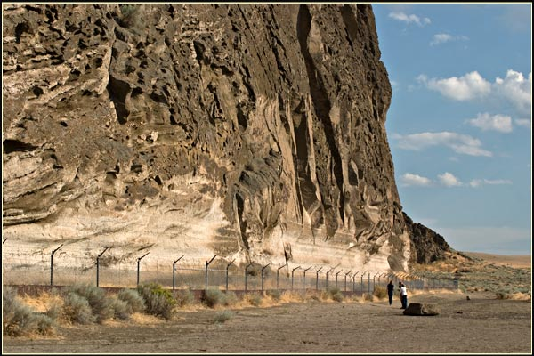 petroglyp point, lava beds national monument, tulelake,ca.  looking south along the western face.  photo by anders tomlinson.