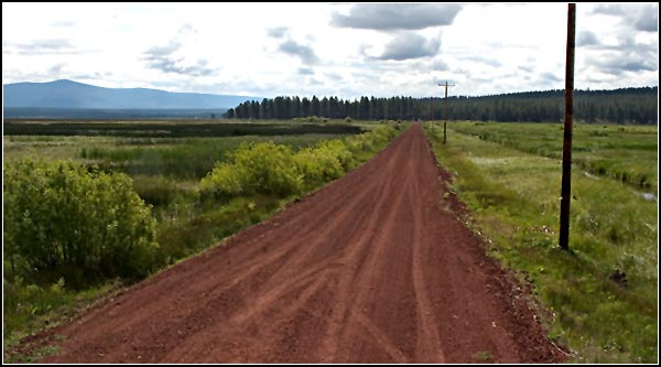 old military road, klamath national wildlife refuge, klamath county.  photo by anders tomlinson.