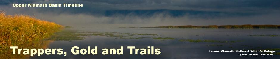 lower klamath national wildlife refuge, sunrise open water, siskiyou county, photo anders tomlinson. header for 1840 - 1859 uppper klamath basin history timeline