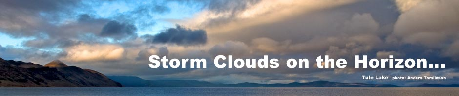 tule lake sunset storm clouds, tulelake california. photo by anders tomlinson. header for 1860 -1899 timeline.