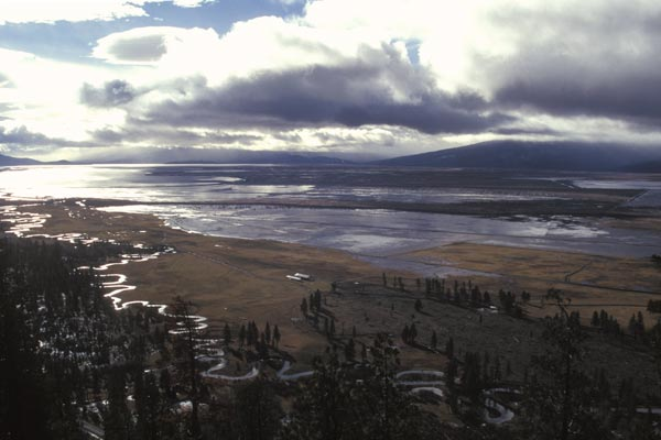 wood river valley during a 1996 new years flood.  photo by anders tomlinson
