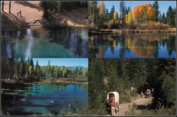 four scenes of kimball park, klamath county, oregon. photos by anders tomlinson