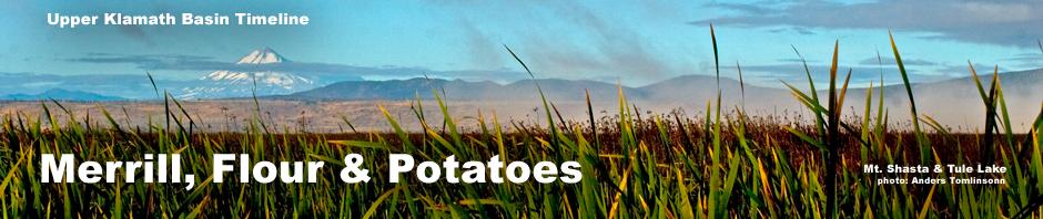 mt shasta seen from tule lake national wildlife refuge, tule lake basin, siskiyou county, california. photo by anders tomlinson. header for upper klamath basin history timeline 1890- 1899