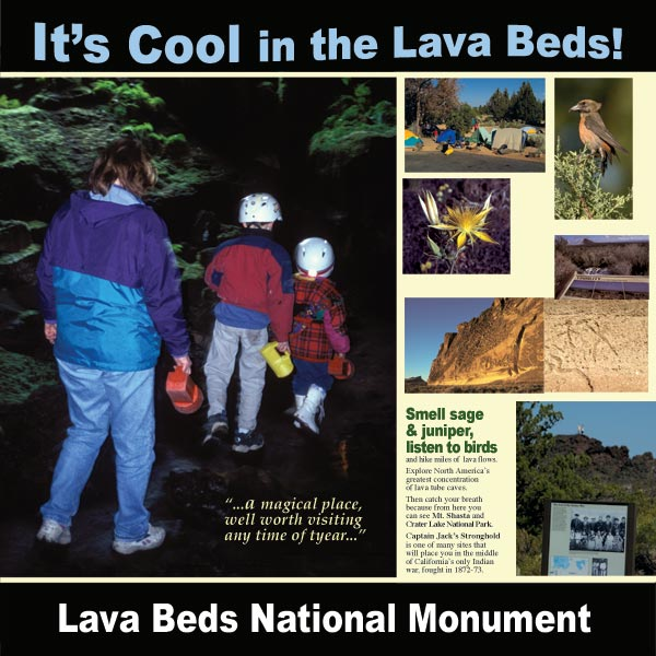 lava beds national monument display at tulelake, california rest stop. designed by anders tomlinson.