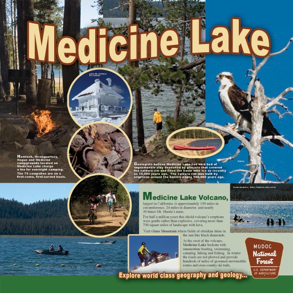 medicine lake panel at the tulelake, california rest stop.  designed by anders tomlinson.