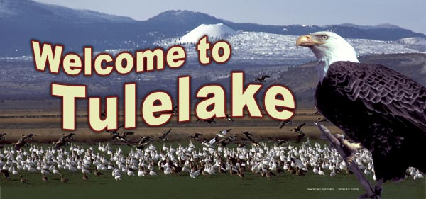 southeren welcoming panel on the tulelake, ca rest stop