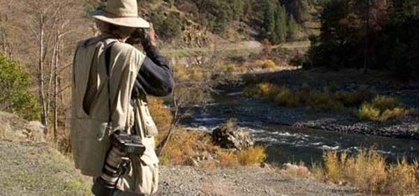 anders tomlinson filming on the trinity river, ca.  photo by pam lehto