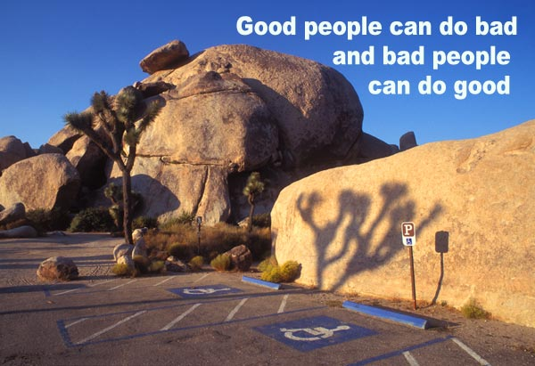 Handicap parking space at Joshua Trees, CA, 2000.  Photo by Anders Tomlinson.