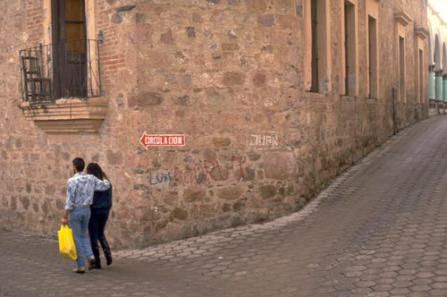 Graffiti on a street corner, Alamos, Sonora, Mexico. Photo by Anders Tomlinson.
