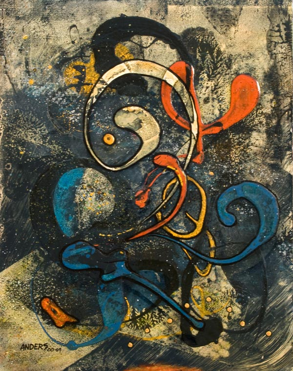 Spirits 01, a apinting by Anders Tomlinson, from the art-tar series