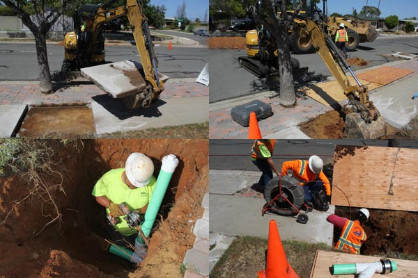 relining sewer lines in serra mesa, san diego, californian. april 2015. photo by anders tomlinson.