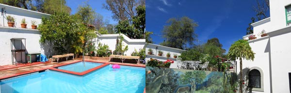 Upper Terrace pool and Katherine Callingham mural at Casa Serena Vista in Álamos, Sonora, México. Photos by Anders Tomlinson, March 5, 2017.
