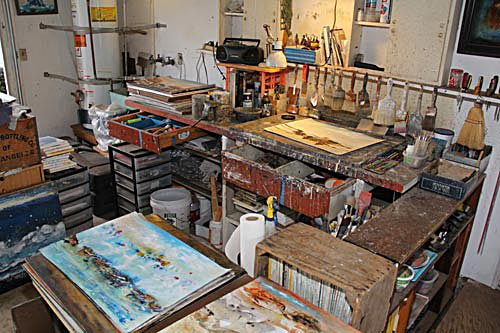 Anders Tomlinson art work bench.